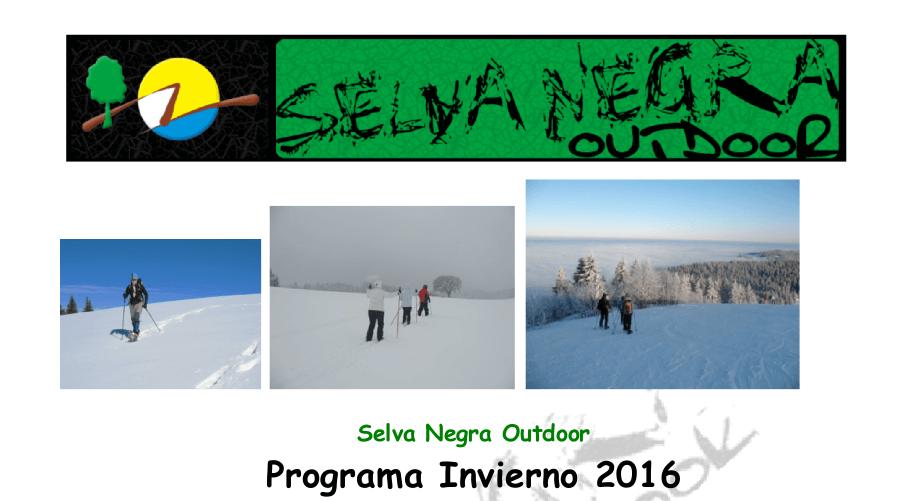 SelvaNegra Programa Invierno 2016 SelvaNegra