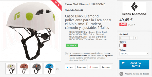 Casco HALF DOME de Black Diamond en Tienda Deportes Koala