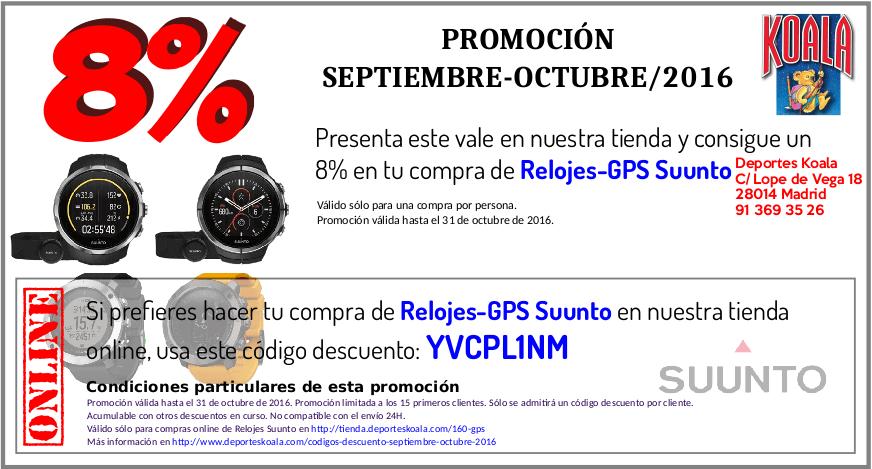 8% Dto. en Relojes-GPS Suunto