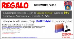dic2016 codigo descuento esquitrav50 300x162 Códigos Descuento Diciembre 2016