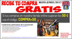 may jun 2017 codigo descuento compra50 300x162 Codigos Descuento Mayo Junio 2017