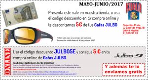 may jun 2017 codigo descuento julbo5e 300x162 Codigos Descuento Mayo Junio 2017