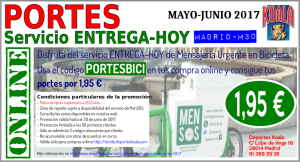may jun 2017 codigo descuento portesbici 300x162 Codigos Descuento Mayo Junio 2017