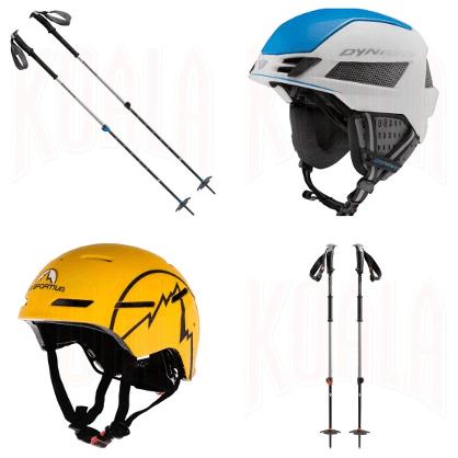 Bastones y cascos para Esquí de Travesía